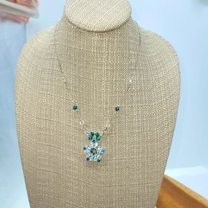 Hand Beaded Swarovski Crystal Necklace